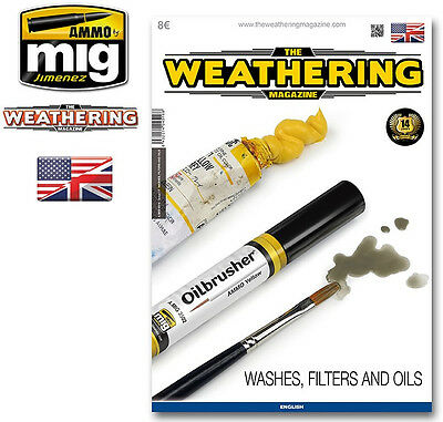The Weathering Magazine No.17 Washes, Filters & Oils by Ammo Mig
