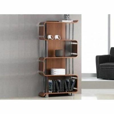 Curved Walnut Designer Bookcase by Jual Furnishings BS201