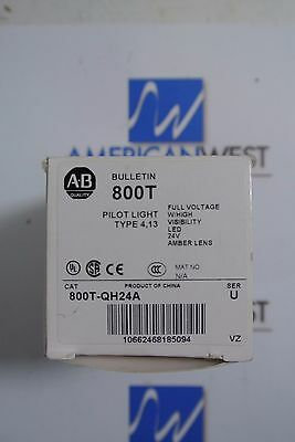 Allen Bradley 800T-QH24A Full Voltage High Visibility Pilot Light LED 24v Amber