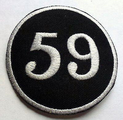 BLACK 59 CAFE RACER MOD - SEW OR IRON ON BIKER MOTORCYCLE PATCH no-29