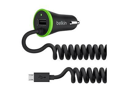 Belkin F8M890bt04-BLK Car Charger Coiled Micro USB Cable Black