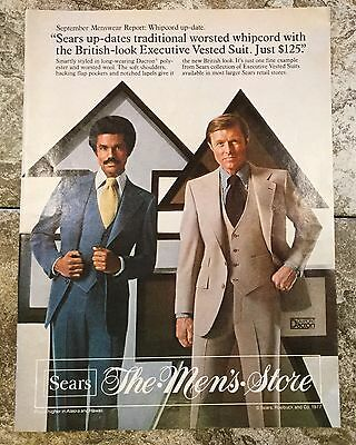 Vintage 1977 Magazine Advertisement - Sears Roebuck & Co. The Men's Store