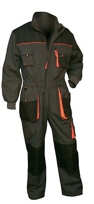 NEW Work Mens Coverall Overalls Boiler Suit Dungarees Multi Pocket Knee Pad UK