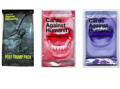 Cards Against Humanity Vote for Hillary Trump & Post Trump Pack Election 2016