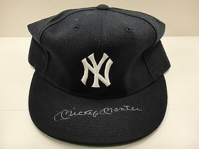 Mickey Mantle Psa/dna Certified Authentic Signed Autographed Ny Yankees Hat