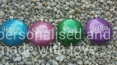personalised glass baubles