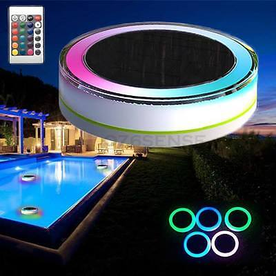 LED LIGHT Solar Power Waterproof Colorful Swimming Pool/SPA/BATH Battery Remote