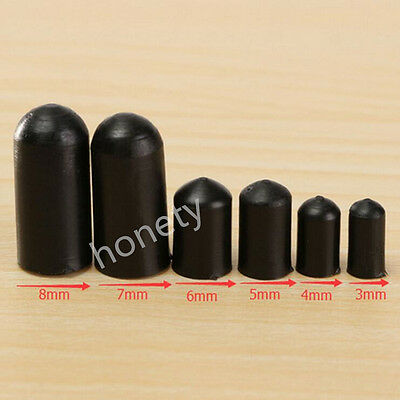 Black Rubber End Caps For 4 Lines Quad Stunt Kite Fixed Parts 3/4/5/6/7/8MM NEW