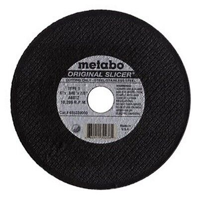 "(Box of 50) Metabo Slicer Cut Off Wheel 6"" X .040"""