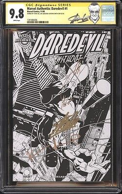Marvel Authentix: Daredevil #1 CGC 9.8 SS Signed Stan Lee, Kevin Smith & Quesada