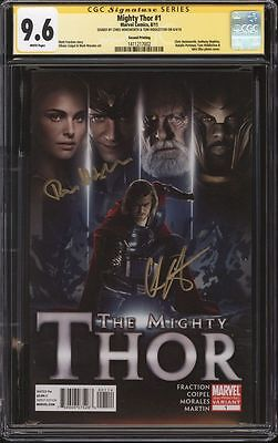 Mighty Thor #1 Photo variant CGC 9.6 SS Signed Chris Hemsworth & Tom Hiddleston