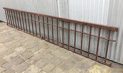 7 VINTAGE ANTIQUE VICTORIAN WROUGHT IRON FENCE PANELS GRILLS SECURITY 15.94 Mtrs