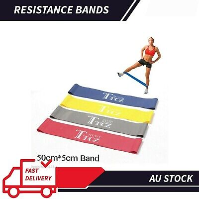 AU Gym Exercise Yoga Plates RESISTANCE BAND LOOP Fitness Training Workout Band