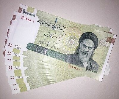 Lot 10 x Iran 100000 (100,000) Rials Banknotes Uncirculated paper money currency