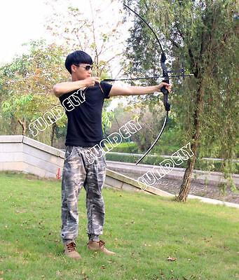 NEW! 40Lbs Black Takedown Recurve Bow RH Hunting Practice Shooting Set New
