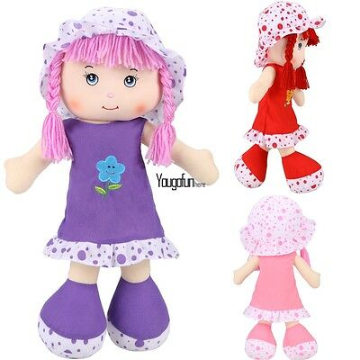 Cute Plush Cartoon Girl Doll Soft Plush Toys Baby Kids Gift HYFG