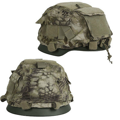 Adjustable Military Tactical Airsoft Paintball Combat CS Helmet Cover Camouflage