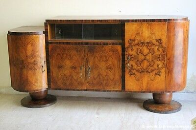 SERVANTE IN NOCE ANNI TRENTA  L.mt 1,92 - ITALIAN WALNUT ART DECO SIDEBOARD