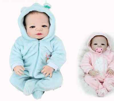 "22""Real Life like Reborn Baby Doll Twins Realistic Newborn Dolls Girl Boy Babies"