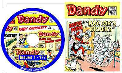 Dandy Comic Library DVD 177 issues - on DVD with reading software issues 1-177