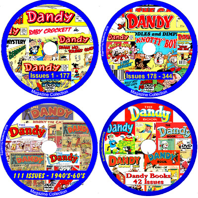 Dandy Comic Library DVD 167 issues - on DVD with reading software issues 178-344