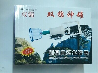 10 Cups & A Pump VACUUM Cupping Set Apparatus Suction Hujama Acupuncture Therapy