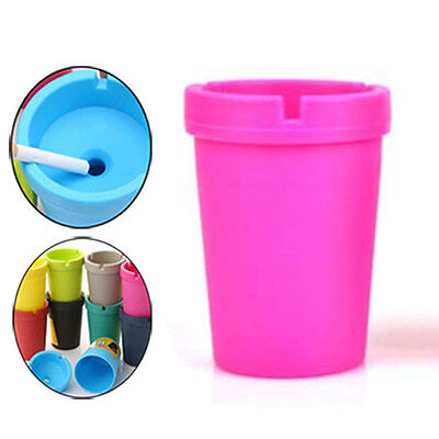 Auto Car Truck Cigarette Smoke Ashtray Double Layer Candy Colors ABS Cup Holder