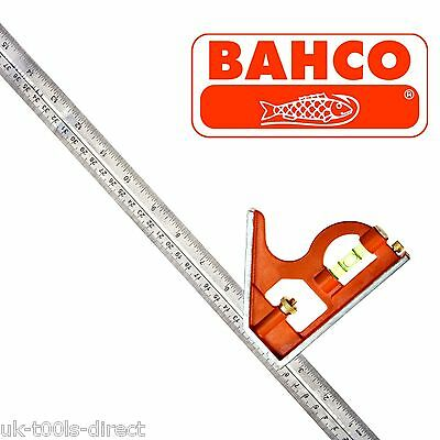 Bahco CS400 Combination Set Square 400mm / 16 Inch Metal Body Steel Rule Adjusts