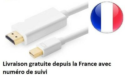 Mini Display port Câble Adaptateur vers HDMI 1.80M pour Apple MacBook Air
