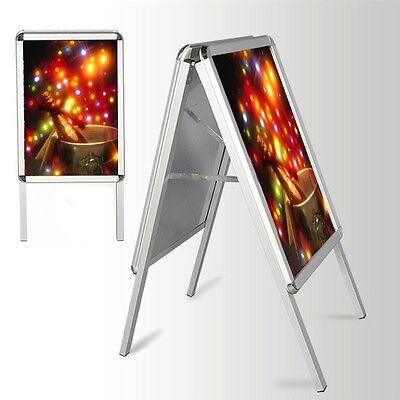 New A2 A-Board Pavement Sign Poster Snap Frame Double Side Sign Display Stands