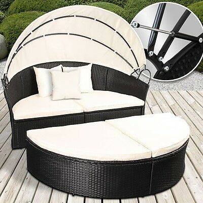 128 rattan sonneninsel gartenm bel gartenlounge. Black Bedroom Furniture Sets. Home Design Ideas