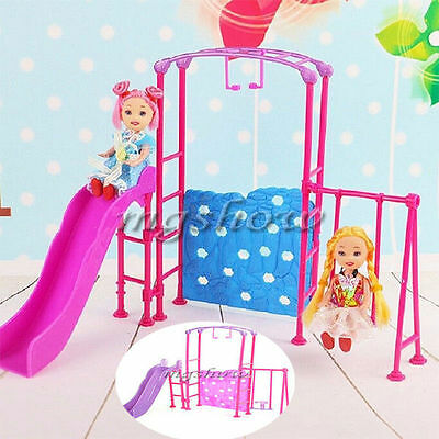Miniature Playground Slide Climber 1/6 for Barbie Kelly Doll Furniture House Toy