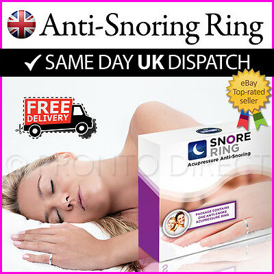 ANTI SNORE RING Stop & Reduce Snoring Acupressure Goodnight Sleep (3 SIZES)