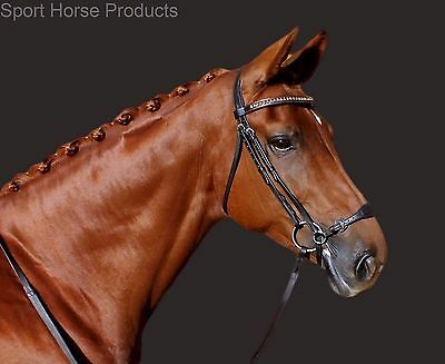 SHP Hanoverian Dressage & Training Bridle with Fully Adjustable Drop Noseband