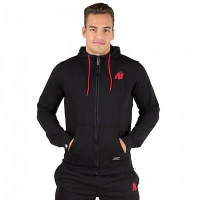 Gorilla Wear Classic Zipped Hoodie – Black Bodybuilding Fitness