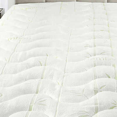 Queen Waterproof Bamboo Jacquard Mattress Pad-Super Soft & Cool To The Touch