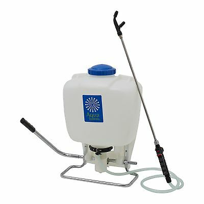 Aqua Systems BACKPACK GARDEN SPRAYER w/ Stainless Steel Lance & Pump Handle 15L