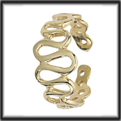 9ct Solid Gold Toe Ring Wavy Pattern H007 jewellery company Made in UK