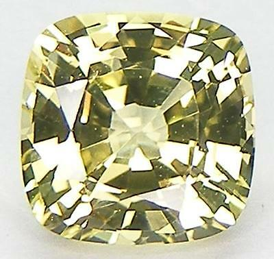 EXCELLENT CUT CUSHION 8x8 MM. SWEET COLOR YELLOW SAPPHIRE LAB CORUNDUM