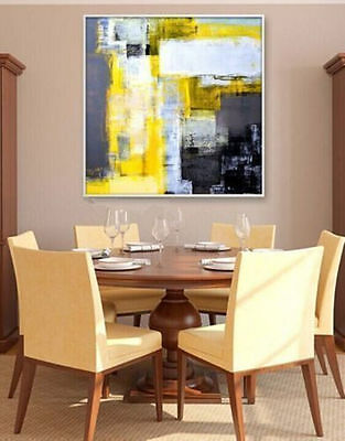 MODERN ABSTRACT HUGE WALL ART Hand-painted OIL PAINTING ON (no frame)