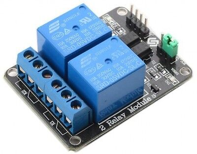 SunFounder 2 Channel DC 5V Relay Module With Optocoupler Low Level Trigger For