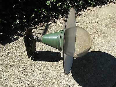 Vintage Early-Mid 1900's Enameled Steel Industrial Or Gas Station Light