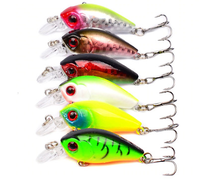 8 x Assorted Mini small Minnow Fishing Lures Bass Baits Crankbait Hook Tackle