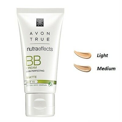 NEW Avon TRUE Nutraeffects BB MATTE Skin Perfecting Cream SPF 15 Active Seed
