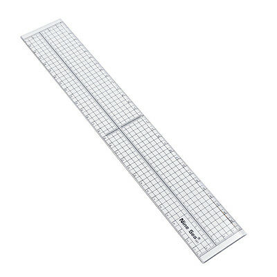 Quilting Sewing Patchwork Foot Aligned Ruler Grid Cutting Tool 30 cm Craft 1 Pc