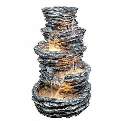 4 Tier Water Feature with Lights - Mains Supply