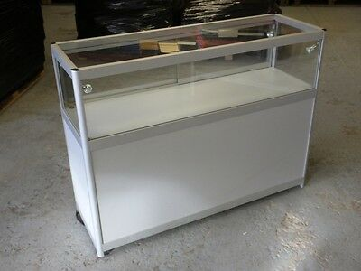 Used Aluminium Display Counter Cabinets with lights (£190.00 + VAT)