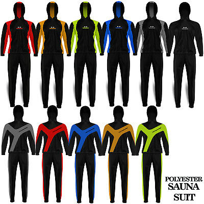 Heavy Duty Sweat Suit Sauna Exercise Gym Suit Fitness Weight Loss with Hood