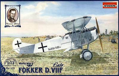 RODEN - Fokker D.VIIF Late Model späte Version Modell-Bausatz - 1:72 NEU OVP kit