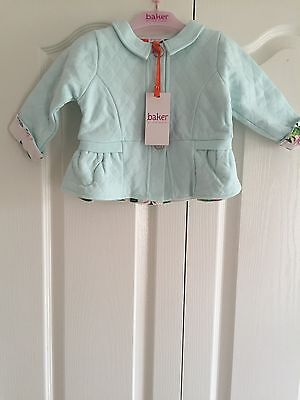 Ted Baker Baby Girls Quilted Jacket. Designer. 9-12 Months . BNWT